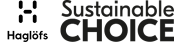 Haglöfs logo Sustainable Choice