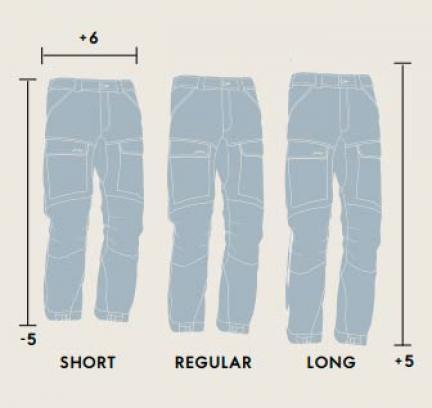 Størrelsesguide - Lundhags - benlængder