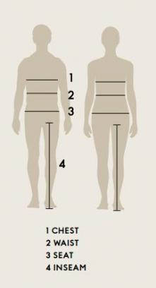 Størrelsesguide Lundhags - tøj - damer og herrer